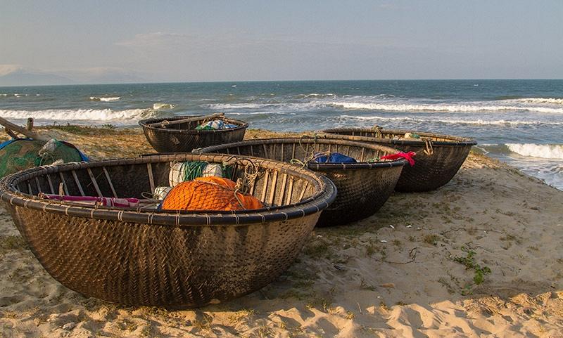 Traditionele vissersbootjes