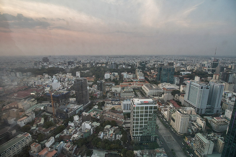 Uitzicht vanaf de Bitexco Financial Tower